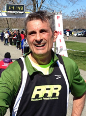 "Gary Scarano after finishing the Hook Mountain Half Marathon 2013 Photo Wojciech ""VT"" Cieszkowski"