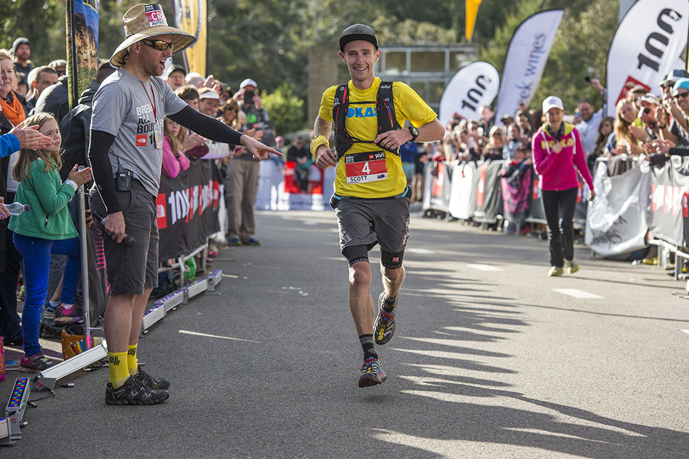 Scott Hawker finishing second in the 2015 The North Face 100, Blue Mountains, Australia.