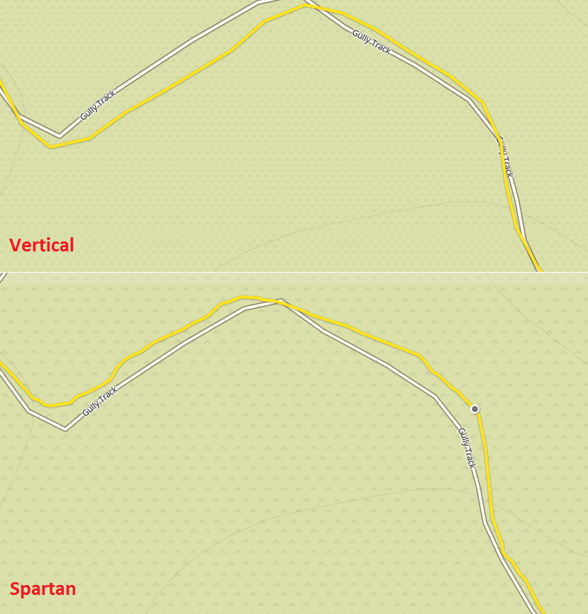 Ambit3 Vertical vs Spartan Ultra GPS track