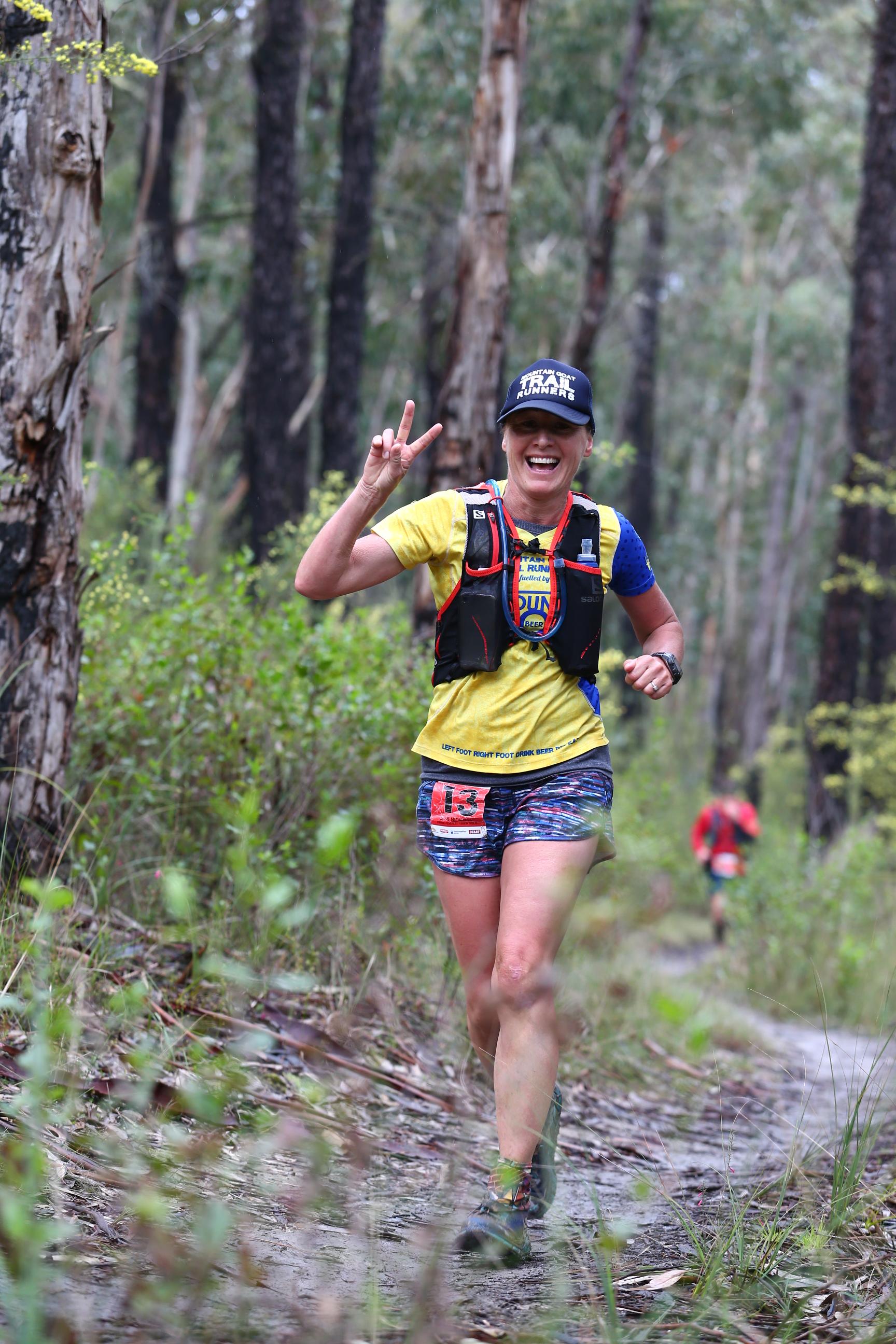 Deb Nicholl 100km champion